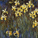 Yellow Irises 2, Клод Оскар Моне