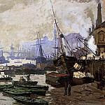 Boats in the Port of London, Claude Oscar Monet