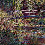 Claude Oscar Monet - The Japanese Bridge (The Water-Lily Pond, Symphony in Rose)
