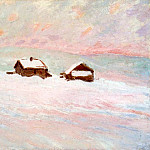 Houses in the Snow, Norway, Claude Oscar Monet