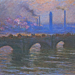Waterloo Bridge, Overcast Weather, Claude Oscar Monet