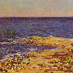 The 'Big Blue' Meditarranean at Antibes, Claude Oscar Monet