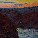Valley of the Creuse, Sunset 2, Клод Оскар Моне