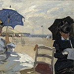 The Beach at Trouville, Клод Оскар Моне