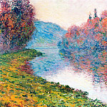 Banks of the Seine at Jenfosse - Clear Weather, Claude Oscar Monet
