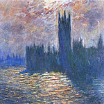 Houses of Parliament, Reflection of the Thames, Claude Oscar Monet