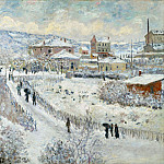 View of Argenteuil in the Snow, Claude Oscar Monet
