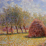 Claude Oscar Monet - Haystacks at Giverny
