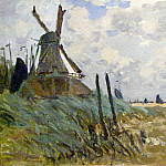 Windmill near Zaandam, Claude Oscar Monet