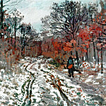 Path through the Forest, Snow Effect, Claude Oscar Monet