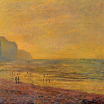Low Tide at Pourville, Misty Weather, Claude Oscar Monet