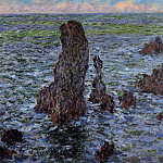Claude Oscar Monet - The 'Pyramids' at Port-Coton