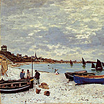 Claude Oscar Monet - The Beach at Sainte-Adresse