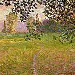 Claude Oscar Monet - Morning Landscape, Giverny