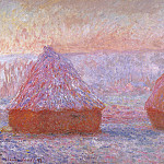 Grainstacks at Giverny, Morning Effect, Claude Oscar Monet