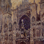 Клод Оскар Моне - Rouen Cathedral, the Portal, Grey Weather