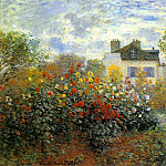 Claude Oscar Monet - The Garden of Monet at Argenteuil