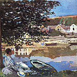 Claude Oscar Monet - River Scene at Bennecourt