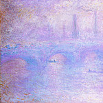Claude Oscar Monet - Waterloo Bridge, Fog