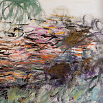 Claude Oscar Monet - Water Lilies (right half)