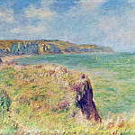 Edge of the Cliff at Pourville, Claude Oscar Monet