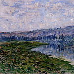 The Seine and the Chaantemesle Hills, Claude Oscar Monet