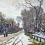 The Road to the Farm of Saint-Simeon, Claude Oscar Monet