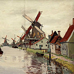 Windmills in Holland, Claude Oscar Monet