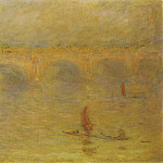 Waterloo Bridge, Sunlight Effect, Claude Oscar Monet