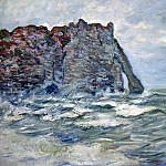 Port d`Aval, Rough Sea, Claude Oscar Monet
