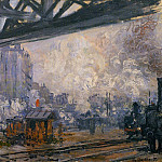 Claude Oscar Monet - Saint-Lazare Station, Exterior View