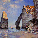 The Rock Needle and the Porte d'Aval, Claude Oscar Monet