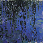Water Lilies and Weeping Willow Branches, Claude Oscar Monet