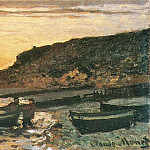 Seacoast at Saint-Adresse, Sunset, Claude Oscar Monet