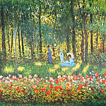 The Artist's Family in the Garden, Клод Оскар Моне