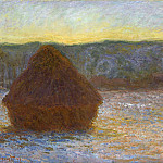 Claude Oscar Monet - Grainstack, Thaw, Sunset