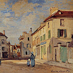 The Old Rue de la Chaussee, Argenteuil, Claude Oscar Monet
