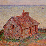 Customs House, Rose Effect, Claude Oscar Monet