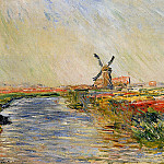 Field of Tulips in Holland, Claude Oscar Monet