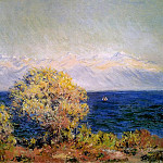 Claude Oscar Monet - At Cap de Antibes, Mistral Wind