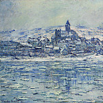 View of Vetheuil, Ice Floes, Claude Oscar Monet