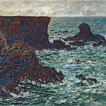 Rocks at Port-Coton, the Lion, Claude Oscar Monet
