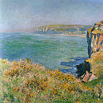 Cliff at Grainval, Claude Oscar Monet