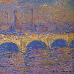 Waterloo Bridge, Sunlight Effect 4, Claude Oscar Monet
