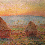 Claude Oscar Monet - Grainstacks at Giverny, Sunset