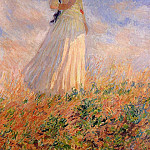 Claude Oscar Monet - Woman with a Parasol, Facing Right (also known as Study of a Figure Outdoors (Facing Right))
