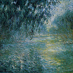 Claude Oscar Monet - Morning on the Seine in the Rain