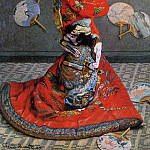 Camille Monet in Japanese Costume, Клод Оскар Моне