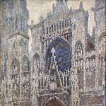 Rouen Cathedral, Grey Weather, Claude Oscar Monet