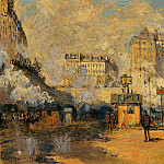 Saint-Lazare Station, Sunlight Effect, Claude Oscar Monet